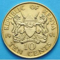 Кения 10 центов 1980-1991 год