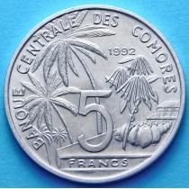 Коморские острова 5 франков 1992 год. Международная конференция рыболовства.