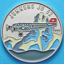 Конго 100 франков 1995 год. Юнкерс JU 52. Эмаль