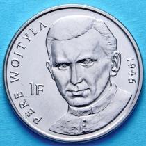 Конго 1 франк 2004 год. Отец Войтыла