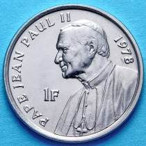 Конго 1 франк 2004 год. Папа Иоанн Павел II