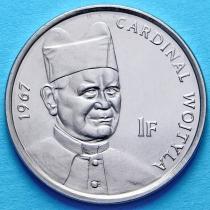 Конго 1 франк 2004 год. Кардинал Войтыла