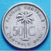 Бельгийское Конго 50 сантим 1954-1955 год.