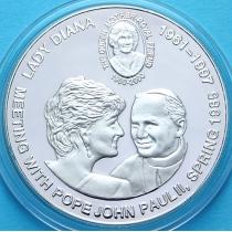 Конго 5 франков 2000 год. Встреча Леди Дианы и Папы Римского