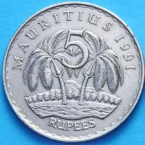 Маврикий 5 рупий 1987-1992 г.