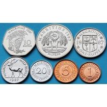 Маврикий набор 7 монет 1987-2008 год.
