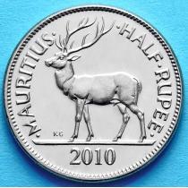 Маврикий 1/2 рупии 1999-2013 год. Олень