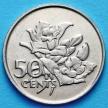 Монета Сейшельские острова 50 центов 1977 год