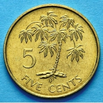 Сейшельские острова 5 центов 1982 год.