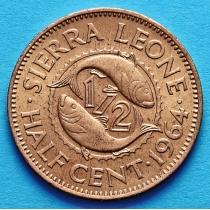Сьерра Леоне 1/2 цента 1964 год.