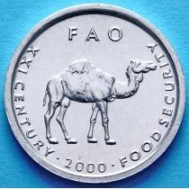 Сомали 10 шиллингов 2000 год. Верблюд ФАО