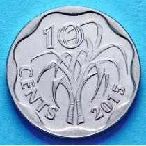 Свазиленд 10 центов 2015 год.