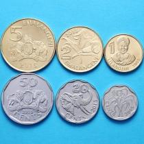 Свазиленд набор 6 монет 2015 год.