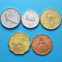 Танзания набор 5 монет 1976-1992 год.