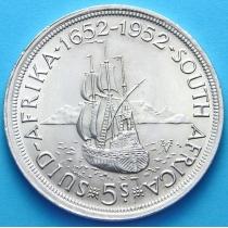 Южная Африка 5 шиллингов 1952 год. Серебро 300 лет основания Кейптауна.