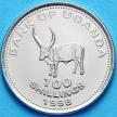 Монета Уганды 100 шиллингов 1998-2008 год. Бык.