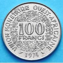 Лот 10 монет Западной Африки 100 франков 1968-1991 год.