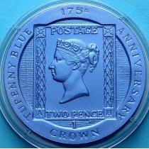 Остров Вознесения 1 крона 2015 год. Синяя марка.
