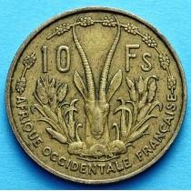 Западная Африка 10 франков 1956 год.