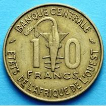 Западная Африка 10 франков 1966-1980 год.