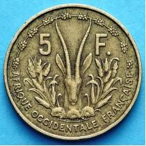 Западная Африка 5 франков 1956 год.