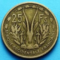 Западная Африка 25 франков 1956 год. VF