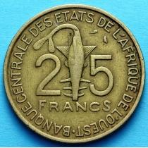 Западная Африка 25 франков 1971-1979 год VF.