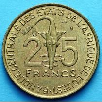 Западная Африка 25 франков 1970-1979 год. XF