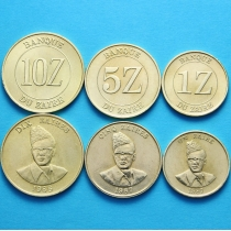 Заир набор 3 монеты 1987-1988 год.