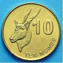 Замбия 10 нгве 2012 год. Африканская антилопа.
