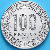 Чад 100 франков 1982 год.