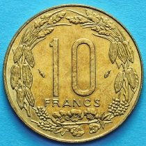 Центральная Африка 10 франков 1975-1988 год. XF.
