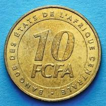 Центральная Африка 10 франков  2006 год.