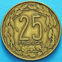 Центральная Африка (BEAC) 25 франков 1975 год.