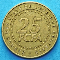 Центральная Африка 25 франков  2006 год.