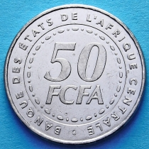 Центральная Африка 50 франков  2006 год.