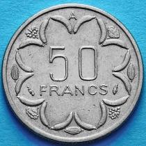 Центральная Африка 50 франков 1976-1990 год. Чад.