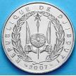 Монета Джибути 100 франков 2007 год.