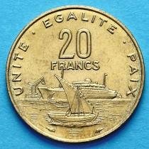 Джибути 20 франков 1991 г.