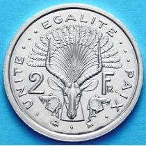 Джибути 2 франка 1999 г.