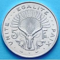 Джибути 5 франков 1991 год.