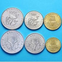 Джибути набор 6 монет 1991-2007 год.