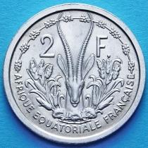 Западная Африка 2 франка 1948 год. UNC.