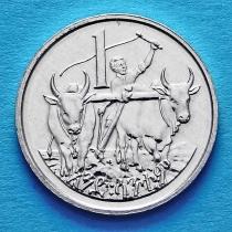 Эфиопия 1 сантим 1977 год.