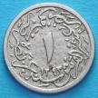 Монета Египта 1/10 куруш 1902 год.