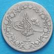 Монета Египта 2/10 куруш 1884 год.