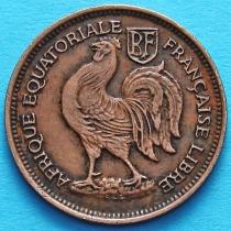 Французская Экваториальная Африка 50 сантим 1943 год. №5