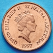 Монета Острова Святой Елены 1 пенни 1997 год. Тунец.