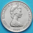 Монета Остров Святой Елены 5 пенсов 1984 год. Зуёк.