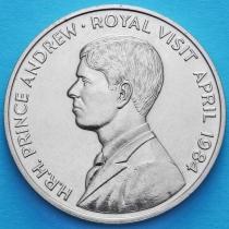 Остров Святой Елены 50 пенсов 1984 год. Королевский визит Принца Эндрю.